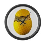 Golf Chick Large Wall Clock