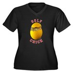 Golf Chick 2 Women's Plus Size V-Neck Dark T-Shirt