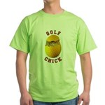 Golf Chick 2 Green T-Shirt