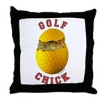 Golf Chick 2 Throw Pillow