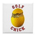 Golf Chick 2 Tile Coaster