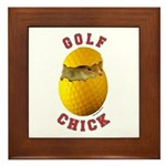 Golf Chick 2 Framed Tile