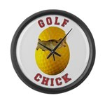 Golf Chick 2 Large Wall Clock