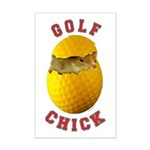 Golf Chick 2 Mini Poster Print