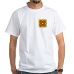 Brown Shield Design White T-Shirt
