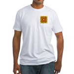 Brown Shield Design Fitted T-Shirt