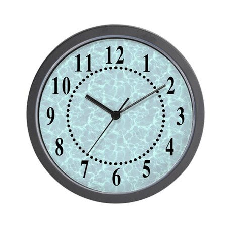Blue Water Look Wall Clock