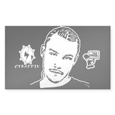 CTRAFFIK Stencil Rectangle Sticker 10 pk)