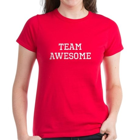 Team Awesome (white) Women's Dark T-Shirt