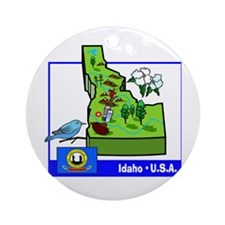 Idaho Map Ornament (Round)