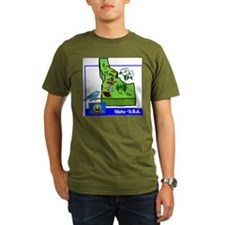 Idaho Map T-Shirt