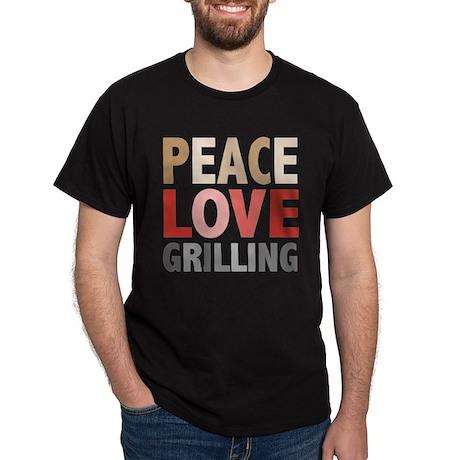 Peace Love Grilling Dark T-Shirt