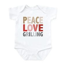 Peace Love Grilling Infant Bodysuit