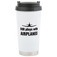 Still plays with Airplanes-Co Ceramic Travel Mug