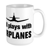 Still plays with Airplanes-Co Ceramic Mugs