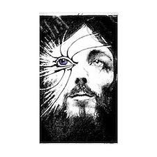 Jesus Christ face sketch sticker
