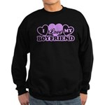 I Love My Boyfriend Sweatshirt (dark)