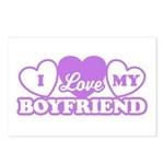 I Love My Boyfriend Postcards (Package of 8)