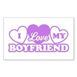 I Love My Boyfriend Rectangle Sticker 10 pk)