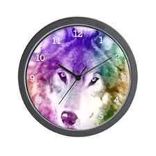Wolf Gaze Art Wall Clock