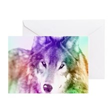 Wolf Gaze Art Greeting Card