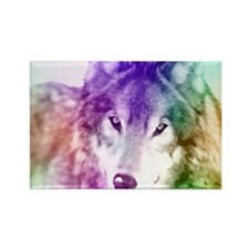 Wolf Gaze Art Rectangle Magnet
