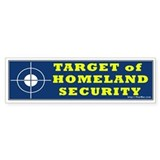 Target of Homeland Security (DHS) Bumper Bumper Sticker