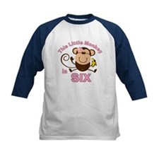 Little Monkey 6th Birthday Girl Tee