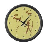 Native American Petroglyph Large Wall Clock