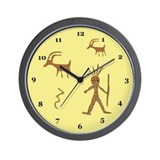 Native American Petroglyph Wall Clock