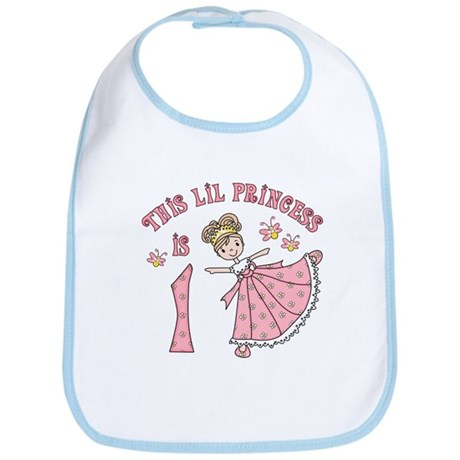 Pretty Princess First Birthday Bib
