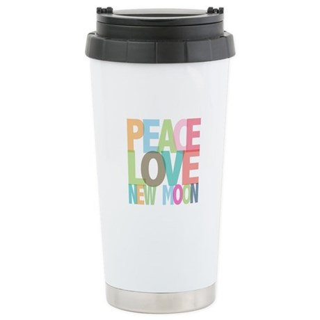 Peace Love New Moon Ceramic Travel Mug