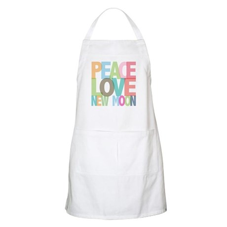 Peace Love New Moon BBQ Apron