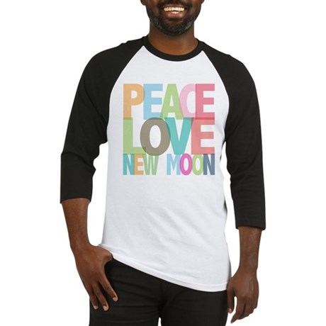 Peace Love New Moon Baseball Jersey