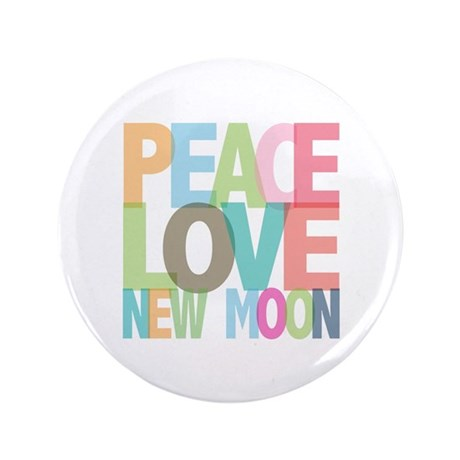 "Peace Love New Moon 3.5"" Button (100 pack)"