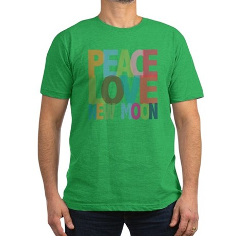 Peace Love New Moon Men's Fitted T-Shirt (dark)