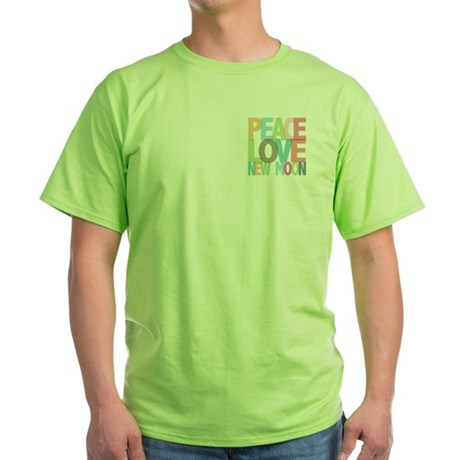 Peace Love New Moon Green T-Shirt
