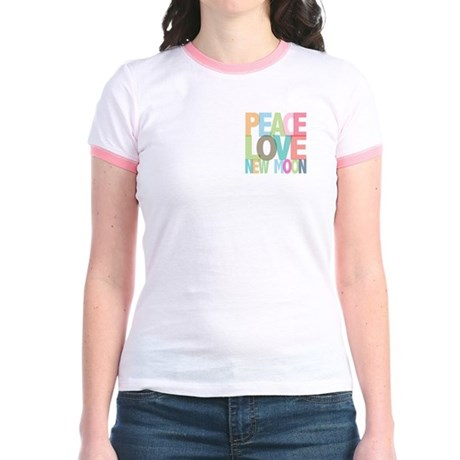 Peace Love New Moon Jr. Ringer T-Shirt