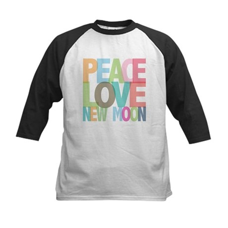 Peace Love New Moon Kids Baseball Jersey