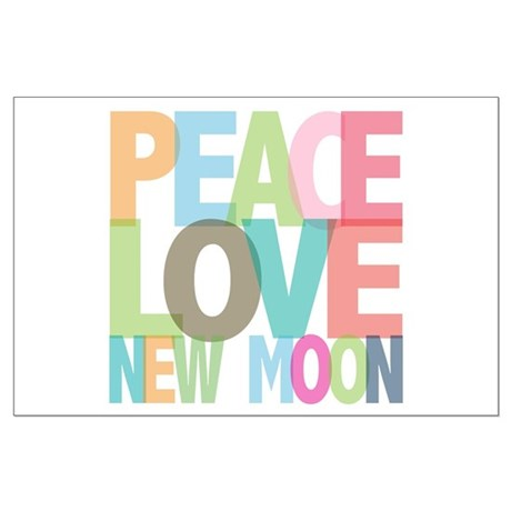 Peace Love New Moon Large Poster