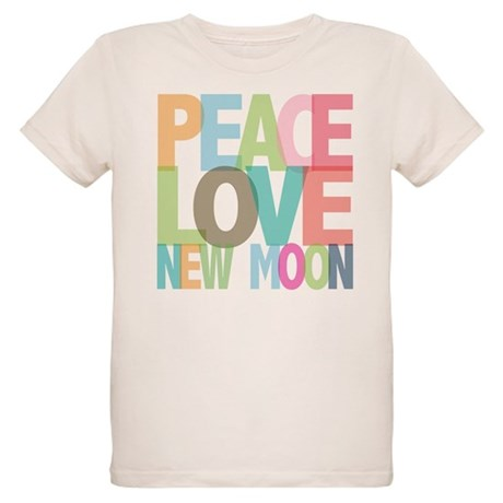 Peace Love New Moon Organic Kids T-Shirt