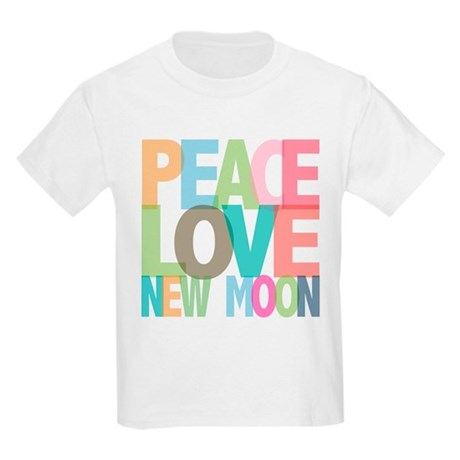Peace Love New Moon Kids Light T-Shirt