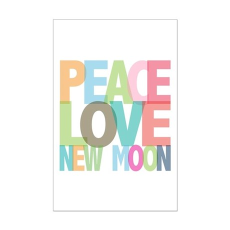 Peace Love New Moon Mini Poster Print
