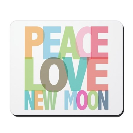 Peace Love New Moon Mousepad