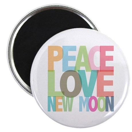 "Peace Love New Moon 2.25"" Magnet (100 pack)"