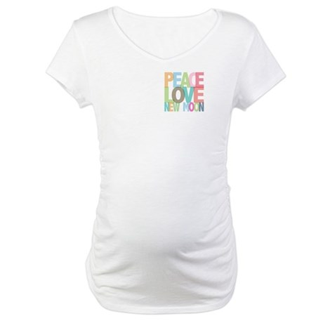Peace Love New Moon Maternity T-Shirt