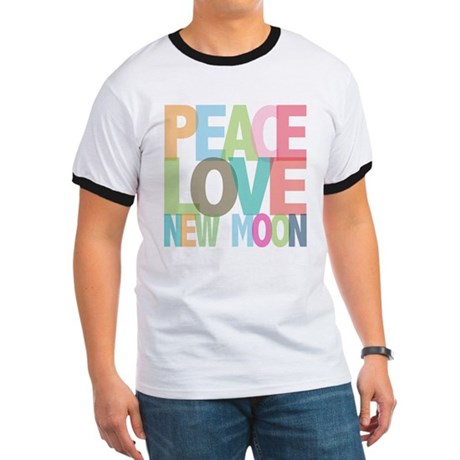 Peace Love New Moon Ringer T