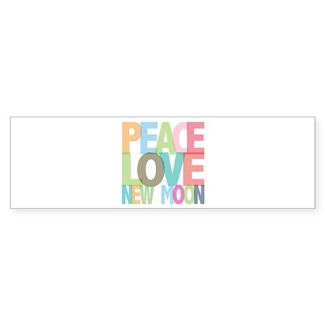 Peace Love New Moon Bumper Sticker