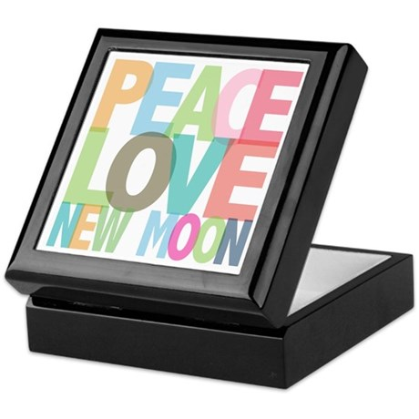Peace Love New Moon Keepsake Box