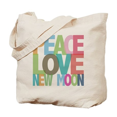 Peace Love New Moon Tote Bag